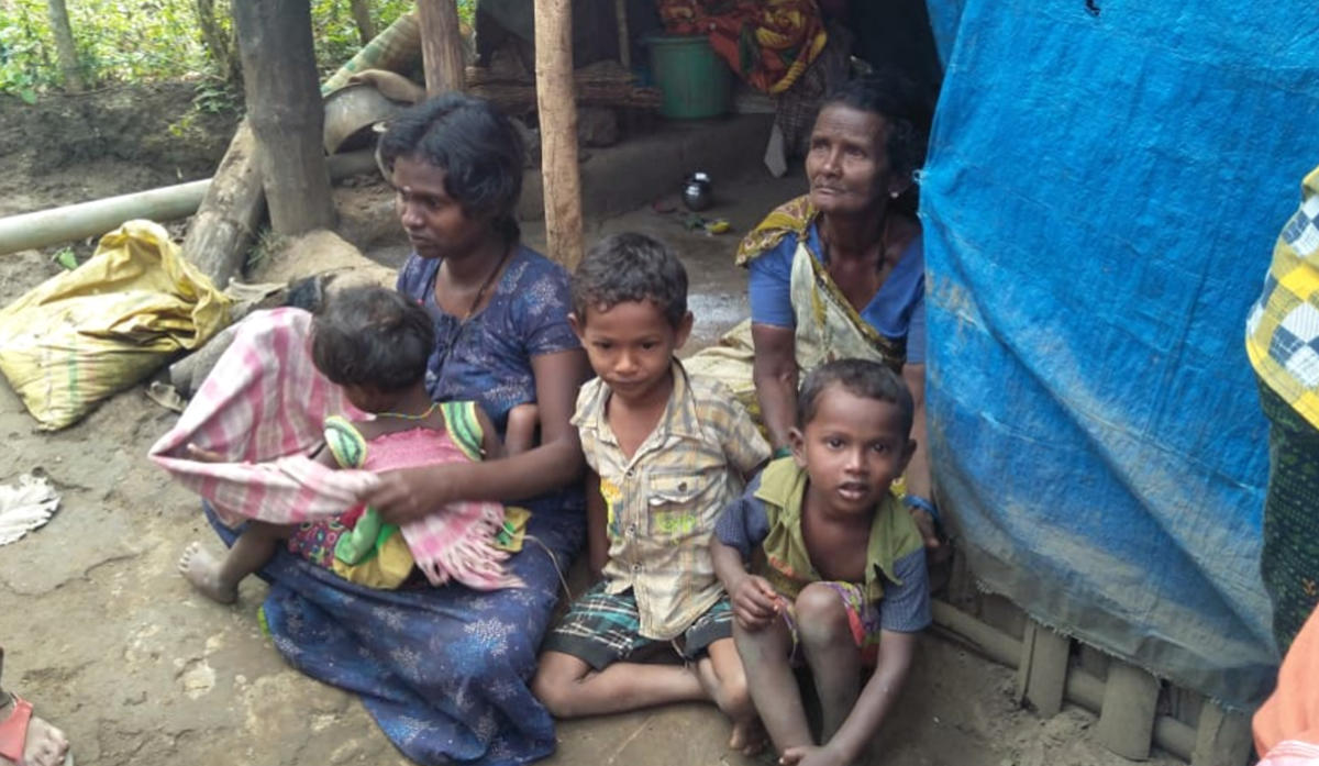 The family members of Madhu, who was killed in a tiger attack, are left in dire straits. dh photo