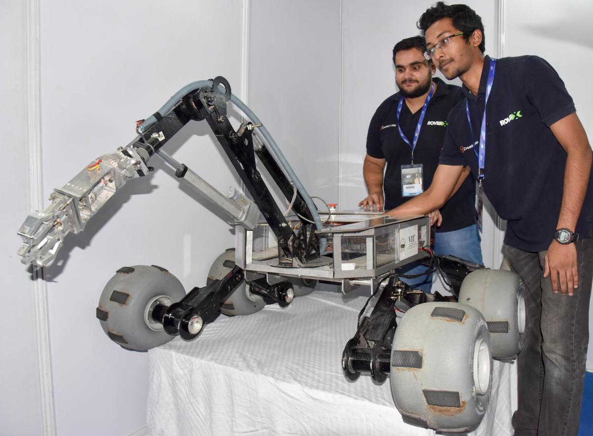 preferred Career options for students who specialise in robotics have expanded. DH Photo/ B H Shivakumar