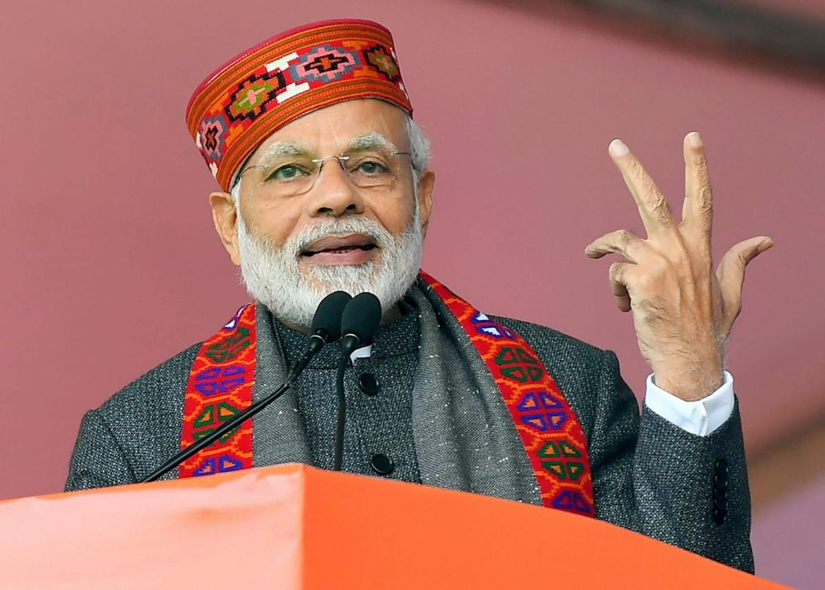 """Prime Minister Narendra Modi continued on Saturday with his attack on the Congress over its """"unfulfilled"""" loan waiver promises. PTI file photo"""