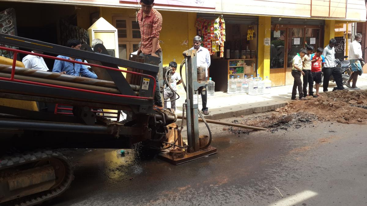 Gail has adopted trenchless Horizontal Directional Drilling (HDD) method to lay gas pipelines wherever feasible in the city.