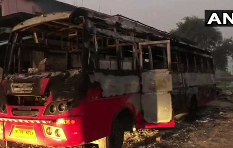 The Maoistsattack, in which ten vehicles, including three tractors and three buses, were set afire, was carried out in retaliation of Rajan's 'cheating'. Rajan's uncle Narendra Prasad Singh, a transporter, was also shot dead by the ultras when he tried to challenge the armed marauders. (Image:ANI Twitter)
