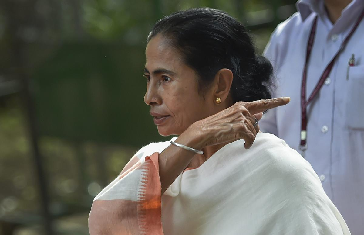 West Bengal Chief Minister Mamata Banerjee leaves after meeting Sonia Gandhi at her residence, in New Delhi on Wednesday. PTI