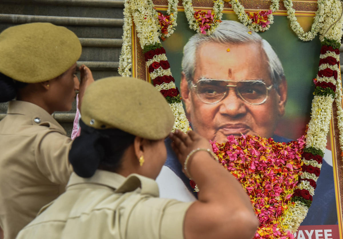 BJP is all set to undertake 'asthi kalash yatras' (carrying Vajpayee's ash) across the state
