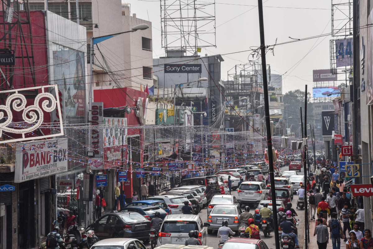 The movement of people and vehicles will be monitored on Brigade Road and MG Road on December 31.
