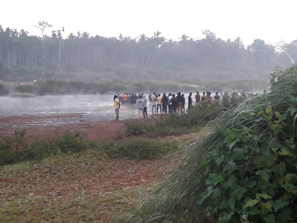 Though search operation was carried out on Monday night did not yield any result. The body was retrieved from the river on Tuesday morning.