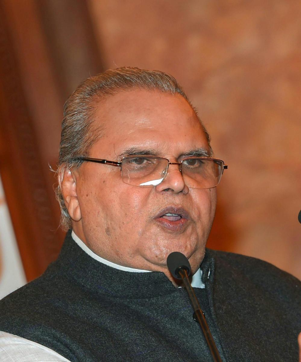 Jammu and Kashmir Governor Satya Pal Malik. PTI