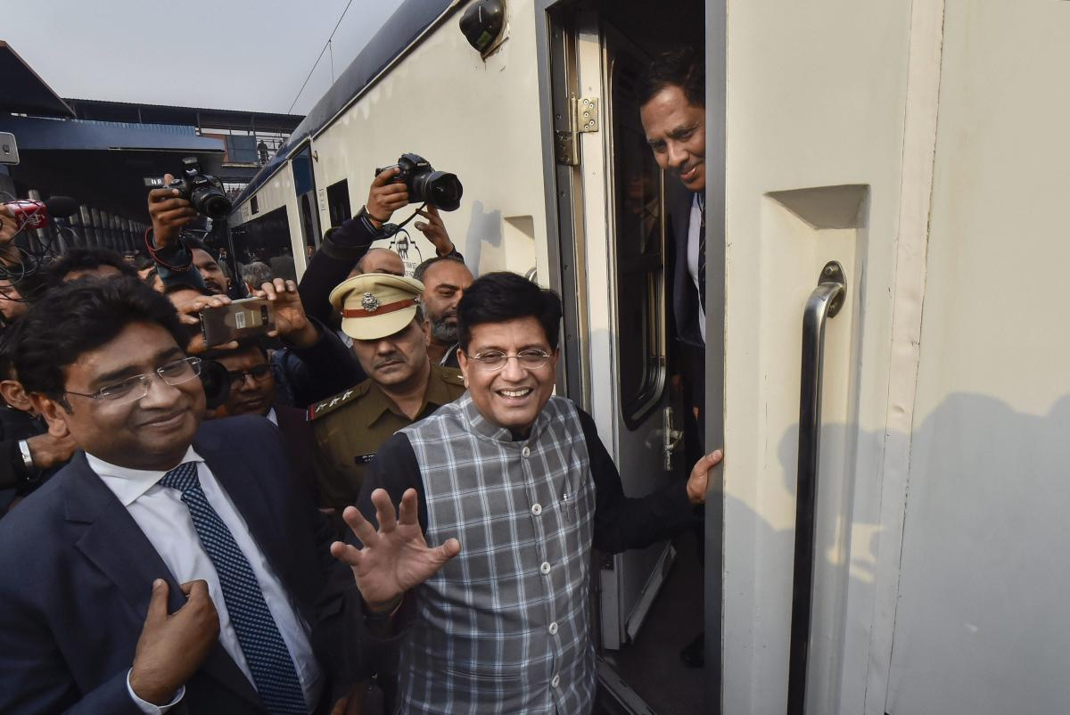 """Railways Minister Piyush Goyal instructed officials that a tin plate saying """"No tips please, if no bill, your meal is free"""" along with a rate list of the menu should be displayed on trains by March this year."""