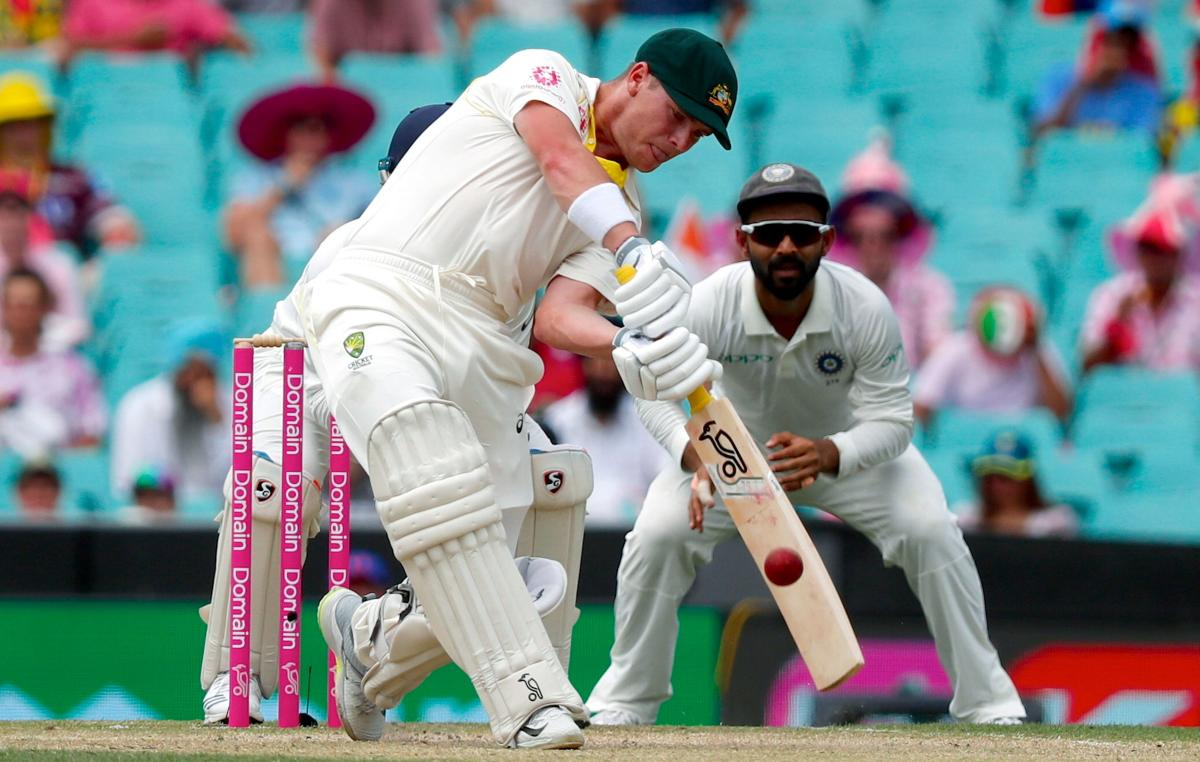 Australia's Marcus Harris hits a boundary during the third day's play of the fourth and final cricket Test between India and Australia at the Sydney Cricket Ground on January 5, 2019. (AFP Photo)