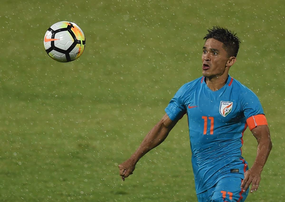 LAST CHANCE: Sunil Chhetri will be looking to be lead from the front when India open their campaign against Thailand on Sunday. AFP FILE PHOTO