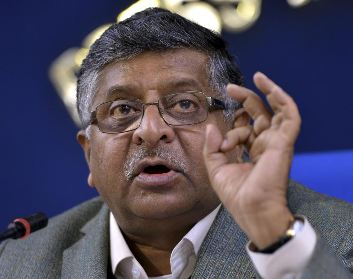 Union Minister Ravi Shankar Prasad has said the government will soon make it mandatory for linking Aadhaar with driving licences. PTI file photo