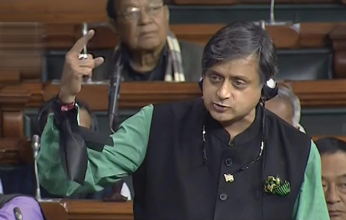 """Asserting that there was growing frustration among NDA members with the """"one-man show"""" at the Centre, senior Congress leader Shashi Tharoor has said it was a """"telling sign"""" that some friends of the BJP were beginning to """"desert the sinking ship"""". PTI pho"""