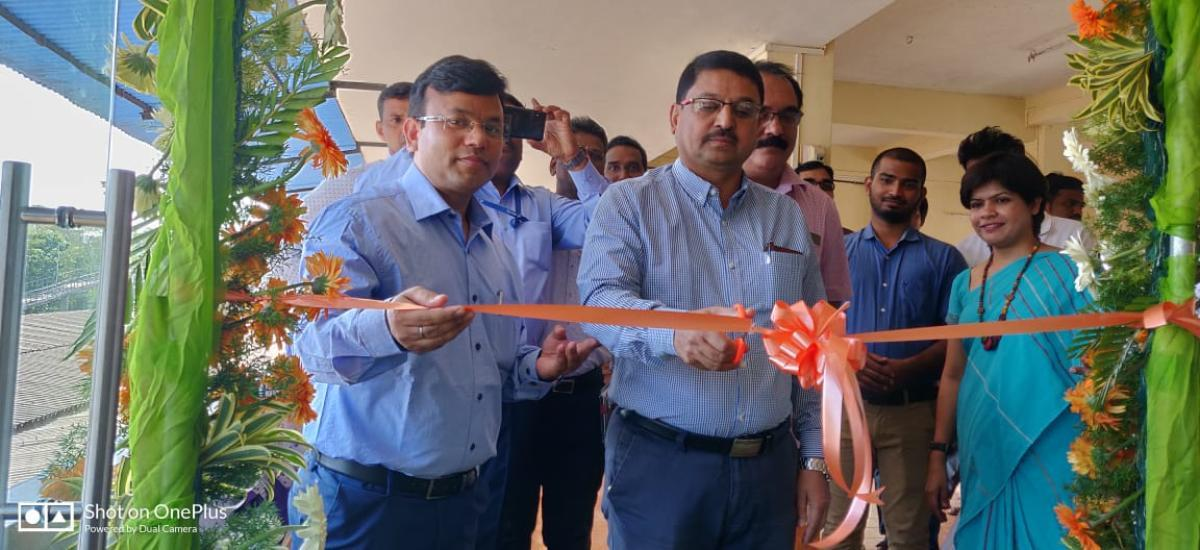 Konkan Railway Regional Railway Manager Mohammed Aasim Sulaiman inaugurates Fresh Up facility, at Udupi Railway Station.