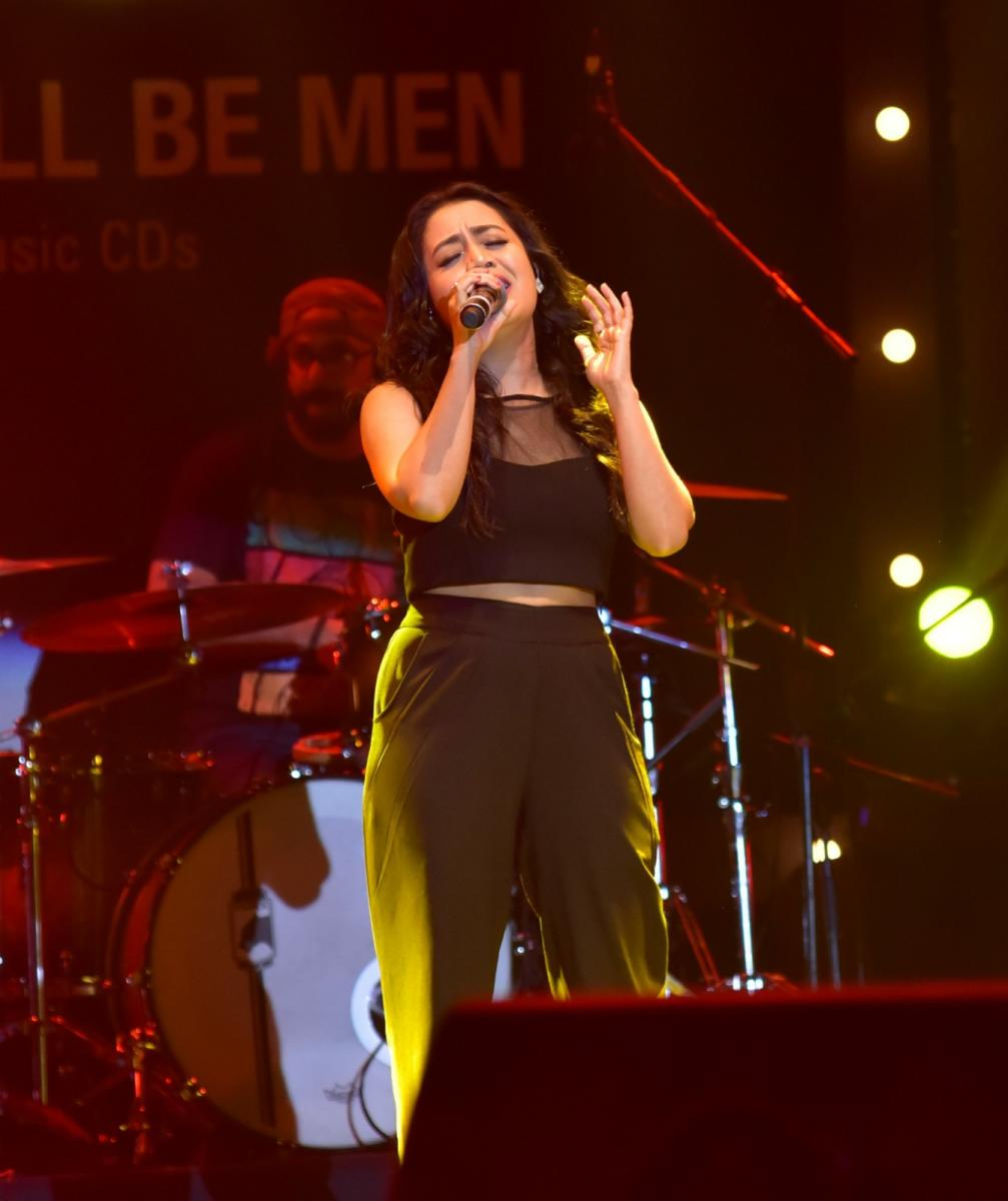 Neha Kakkar performs at 'Mangalore Thumakda', Imperial Blue Super-hit Nights at Nehru Maidan in Mangaluru.