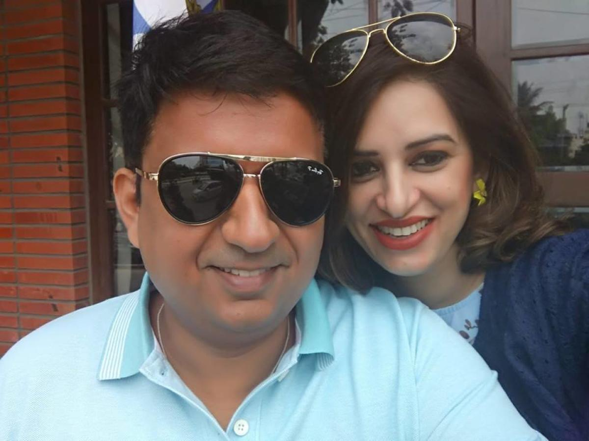 Saurabh Sharma and his wife Anura Sharma. (FACEBOOK)