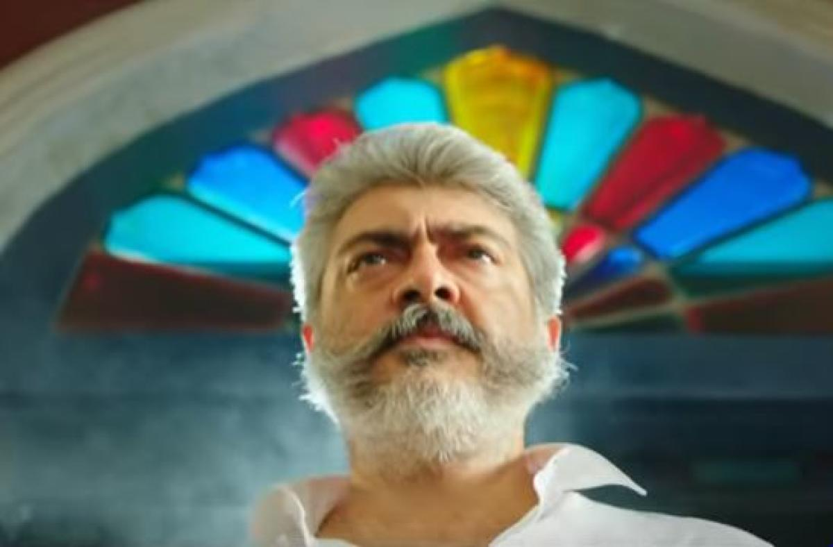 A still from the trailer of 'Vishwasam'. Pic YouTube