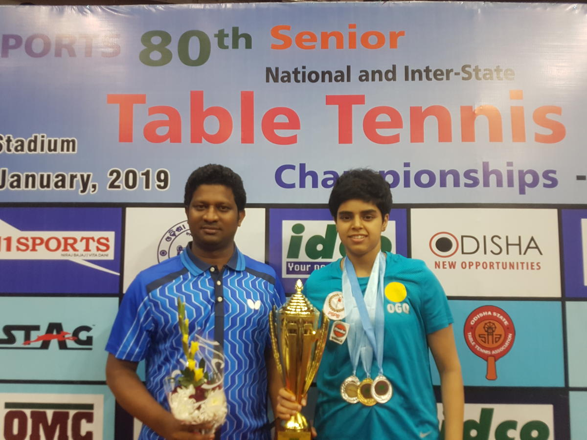 BRILLIANT: Archana Kamath with the trophy after winning the senior national title.