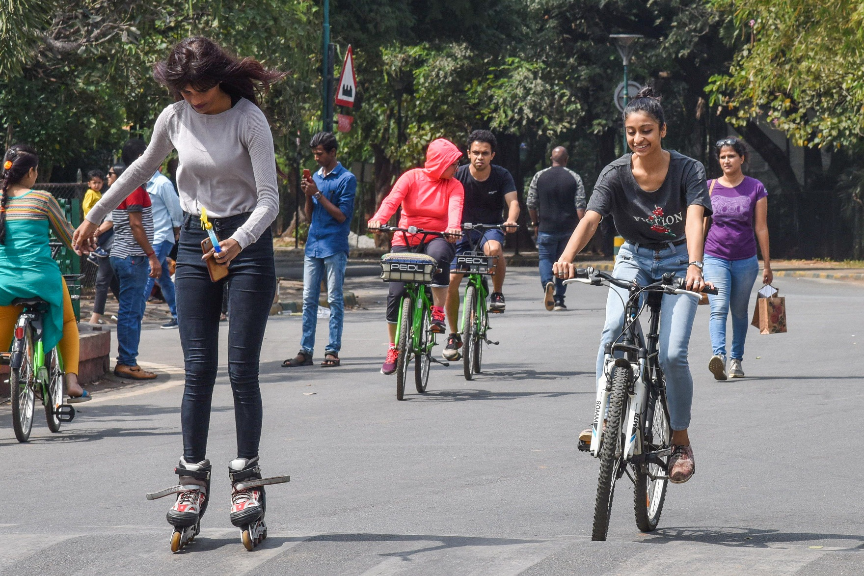 A Cubbon Park scene. Young people are more diet- and excercise-conscious than older people, who eat more carbs.