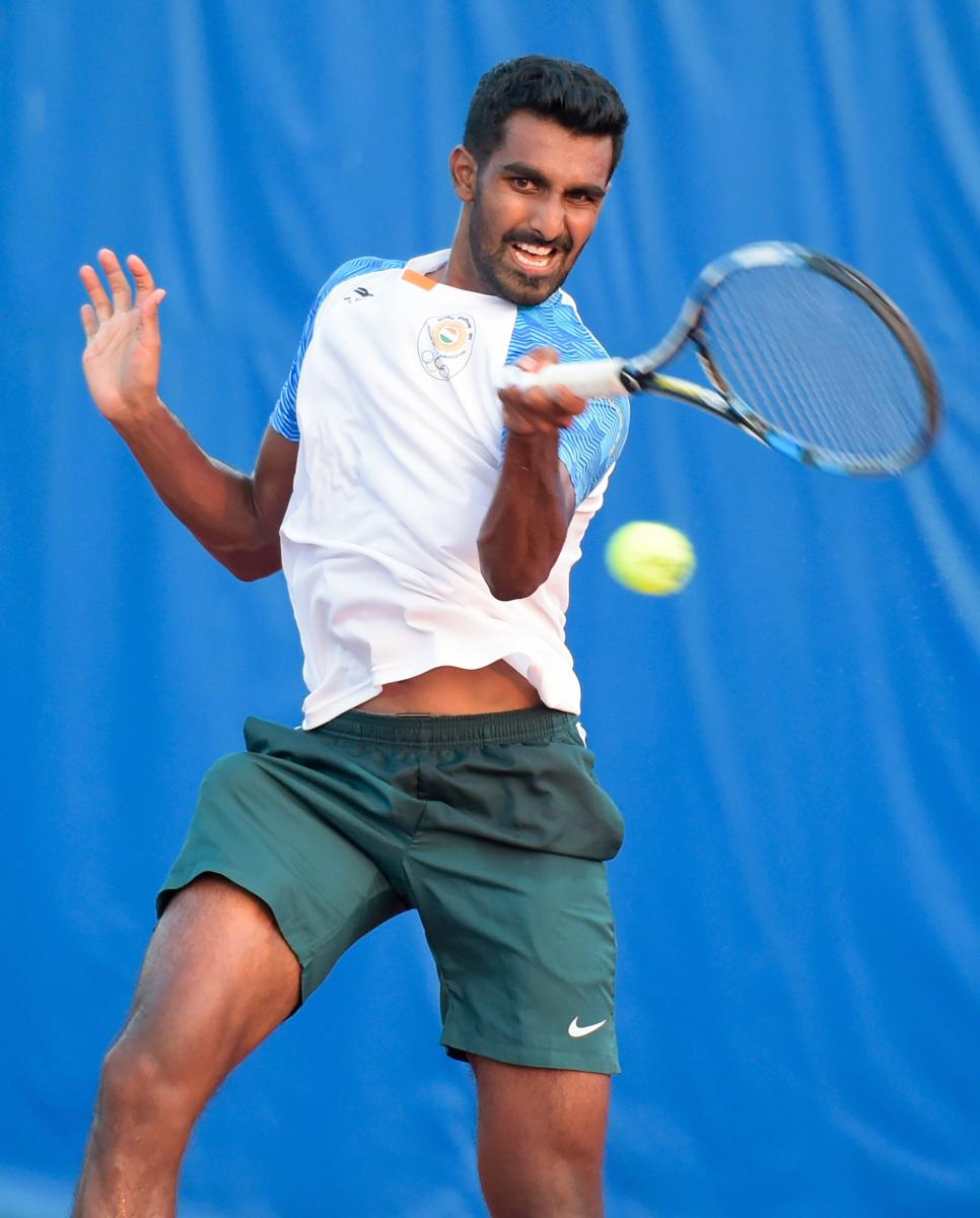 India's Prajnesh Gunneswaran is one win away from entering the main draw of the Australian Open. PTI File Photo