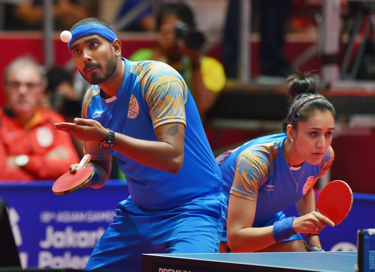 winsome twosome: Sharath Kamal says he is keen to seek success in mixed doubles, where he won bronze with Manika Batra at the Asian Games.