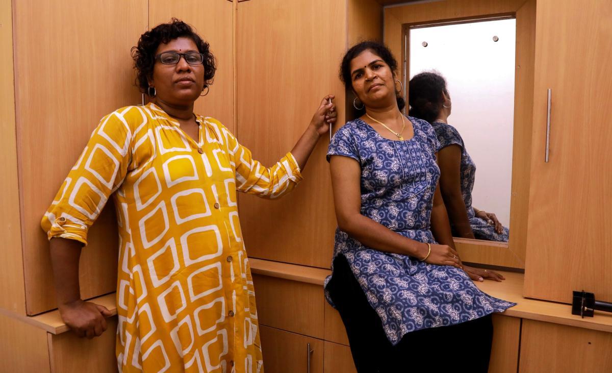 Bindu Ammini (L) and Kanakadurga (R), the two Indian women who entered the Sabarimala Ayyapa temple (AFP Photo)