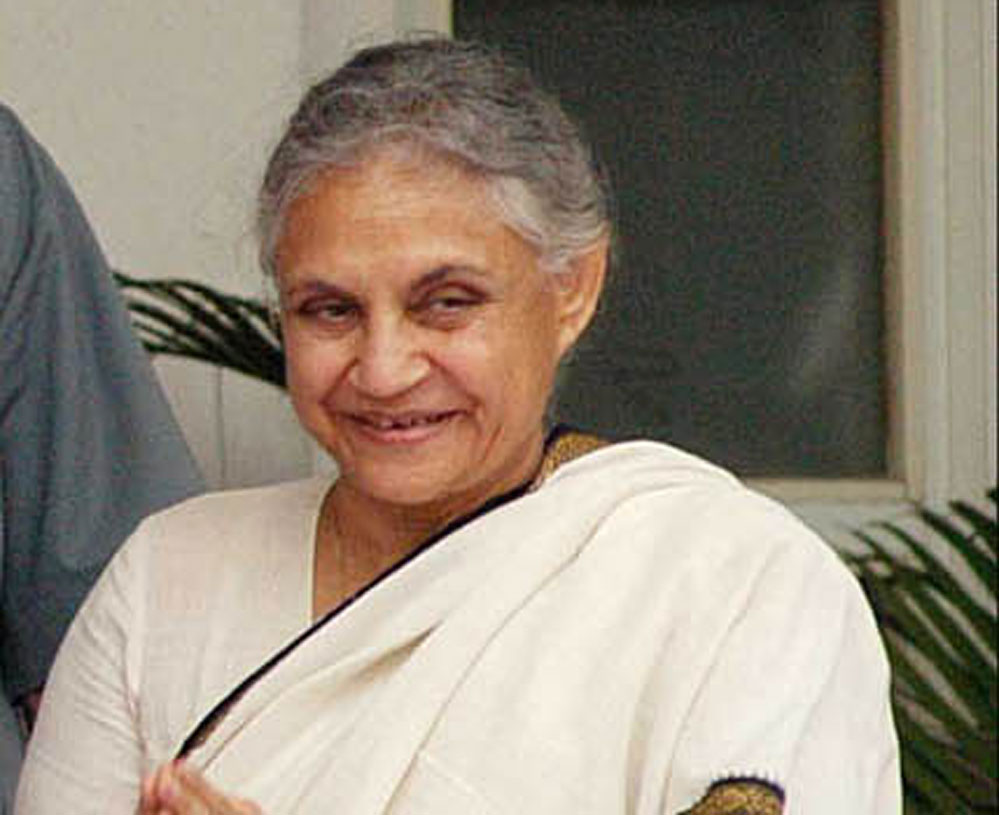 Veteran Congress leader Sheila Dikshit. DH file photo