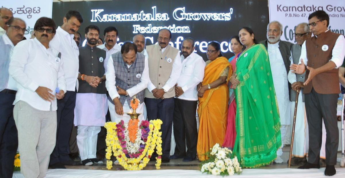 District In-charge Minister K J George inaugurates the coffee mela in Chikkamagaluru on Tuesday.