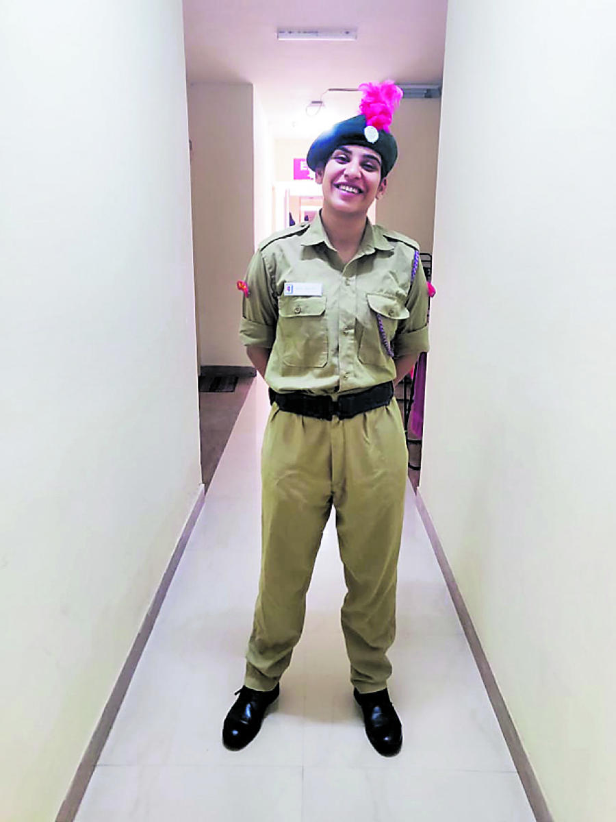 NCC cadet Sehr Bansal.