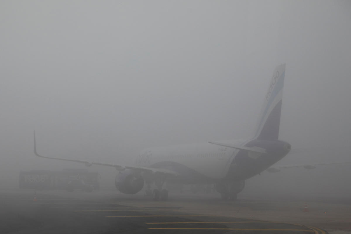 """Due to dense fog and poor visibility in Delhi, delays are expected for both arrivals and departures with likely consequential impact on flights across network. Currently, flight departures from Delhi are on hold and will resume by 0930 hrs subject to weather clearance,"" Air Vistara said on it's Twitter handle. (Reuters file photo)"