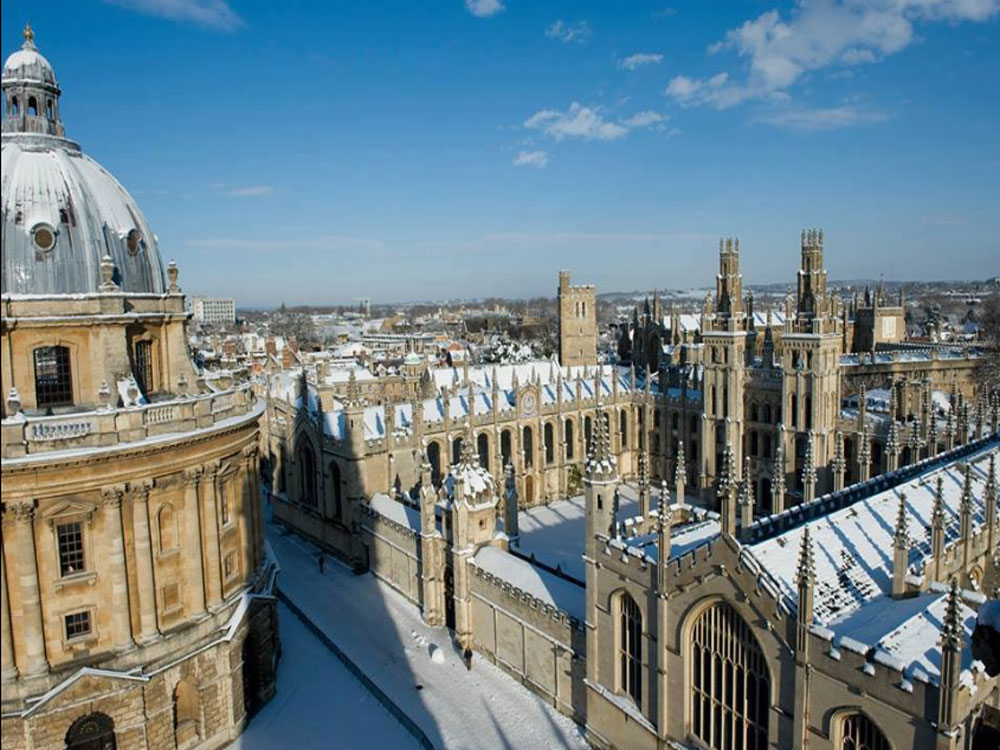 According to data available with the Higher Education Statistics Agency of the UK, the number of students going to the UK jumped by 6.9% to 9,720 in 2016-17, after the country voted in favour of leaving the European Union on June 23, 2016. File photo of Oxford University,