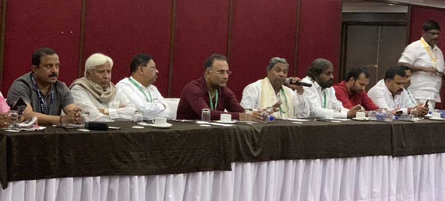 The Congress in Karnataka on Sunday issued notices to its four MLAs seeking an explanation from them for their absence at the Legislature Party meeting, asking why no action should be taken against them under the anti-defection law. Picture courtesy Twitter