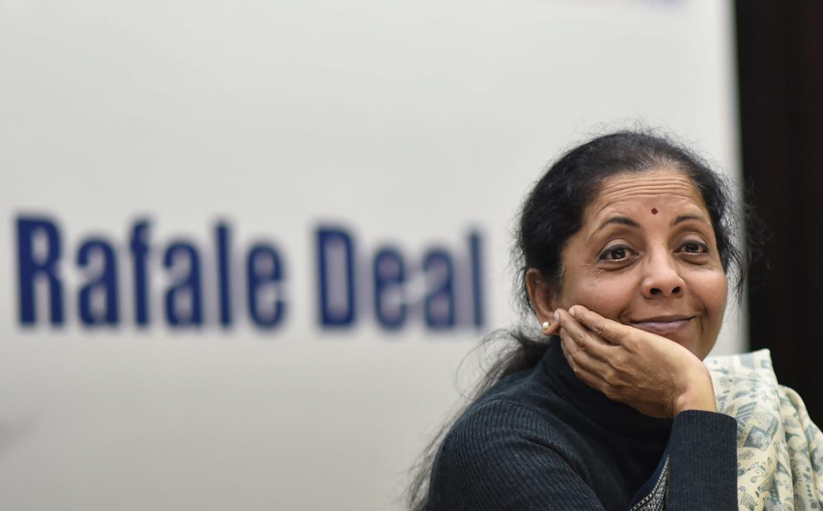 Union Defence Minister Nirmala Sitharaman. PTI