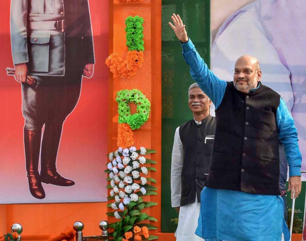 Within hours after addressing a party rally in West Bengal's Malda district BJP president Amit Shah returned to New Delhi on Tuesday evening due to ill health. PTI photo