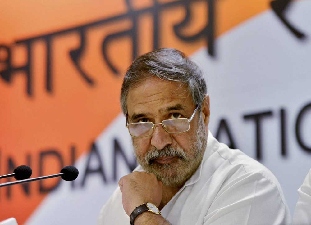 """No officer against whom there is any question mark, any charges during the service career should be considered for empanelment otherwise that would be a gross miscarriage of justice. That is what we want,"" Anand Sharma said. (PTI File Photo)"