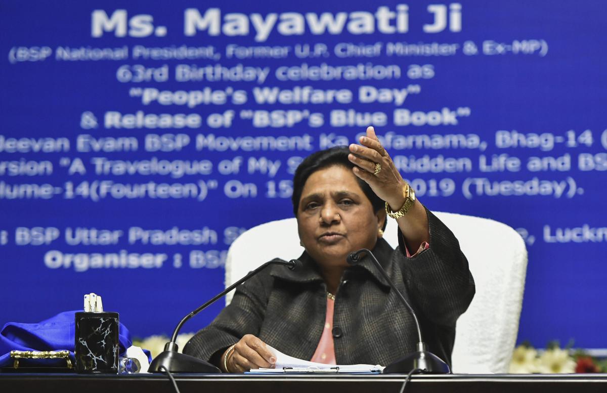 Bahujan Samaj Party (BSP) supremo Mayawati. PTI Photo