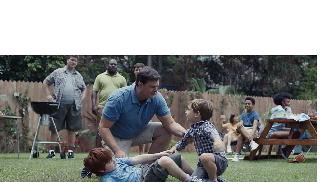 The tagline of the ad is 'The best a man can be', a play on Gillette's original motto 'the best a man can get'.