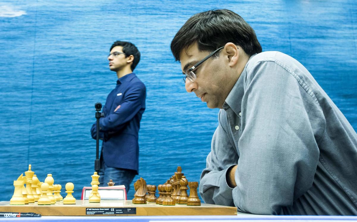 India's Viswanathan Anand played out a draw with Magnus Carlsen of Norway. FILE PHOTO