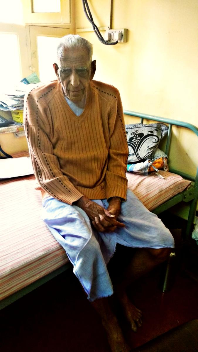 H S Doreswamy at his house in Jayanagar.