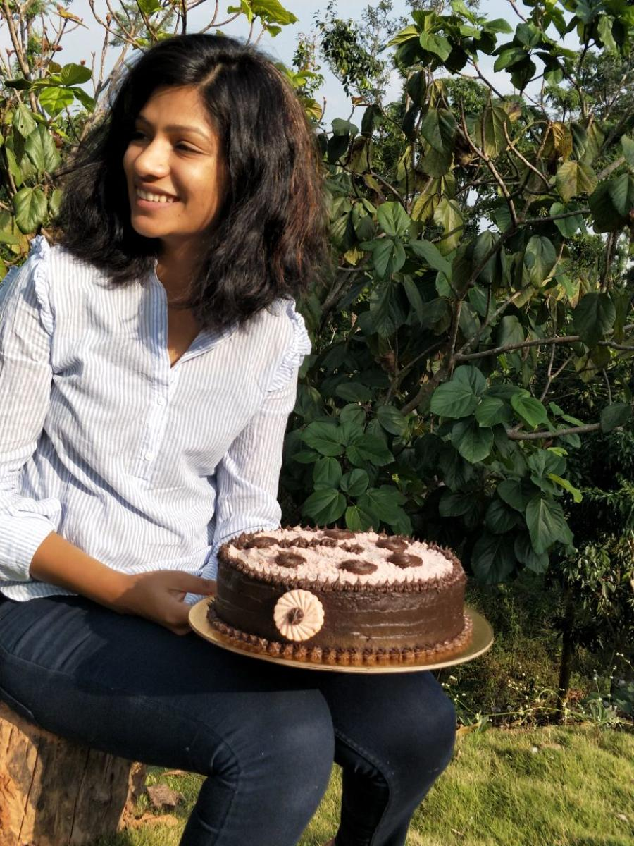 Bhandavya Gowda is a home baker who conducts workshops and takes orders regularly.