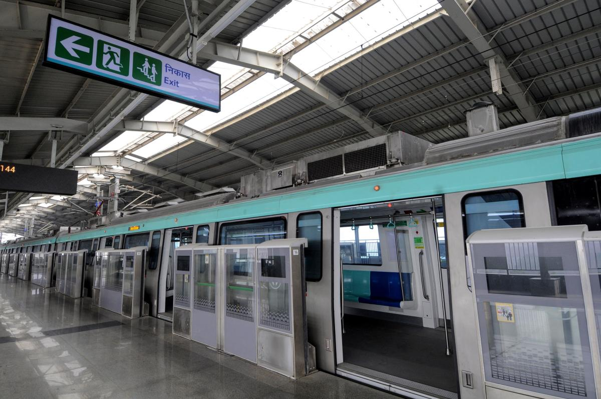 The Noida-Greater Noida metro line, also known as Aqua Line, is expected to boost housing demand in both the regions. AFP file photo.