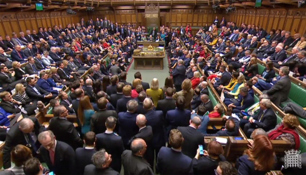 After British MPs rejected Prime Minister Theresa May's Brexit deal, they will on Tuesday vote on what they want her to do next. Unless it seeks a delay, Britain is scheduled to leave the European Union on March 29, deal or no deal. AFP file photo.