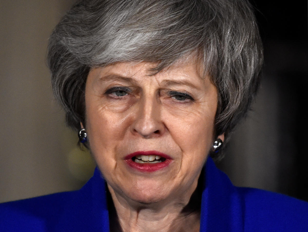 Britain's Prime Minister Theresa May. (REUTERS Photo)