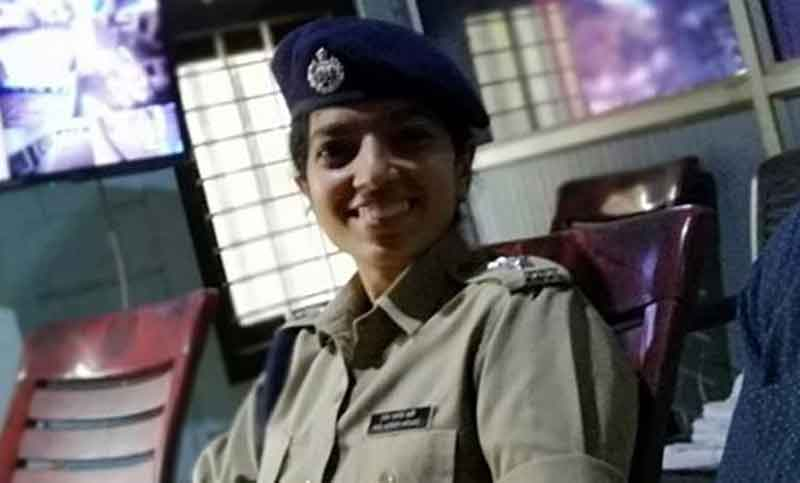 Superintendent of Police Chaithra Theresa John had hit the headlines after she initiated a late night raid on the Thiruvananthapuram district committee office of the ruling CPM in Kerala on January 24 in search of some party activists wanted in a police station attack case. Picture courtesy Twitter