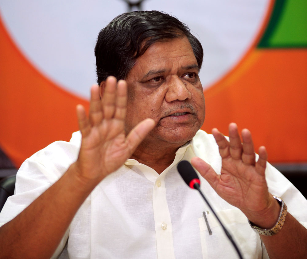 """""""The government has more than Rs 3 lakh crore loan burden. Recently, it raised Rs 1,500 crore loan through bands, and it is trying to raise around Rs 80,000 loan more. The government is heading towards bankruptcy, and it may go into acoma after beinghit by paralysis,"""" he said. DH File Photo"""