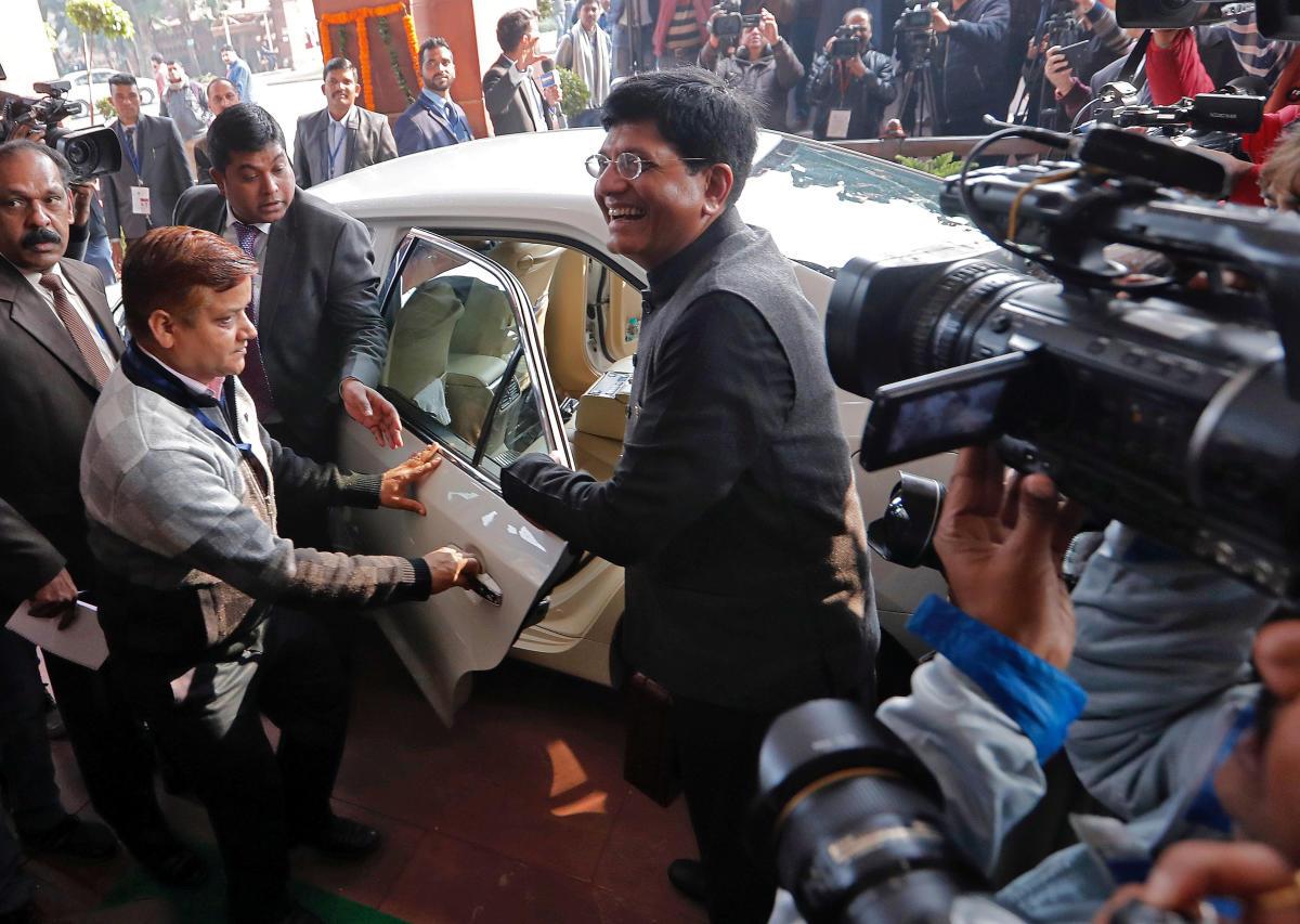 India's interim Finance Minister Piyush Goyal. (REUTERS)