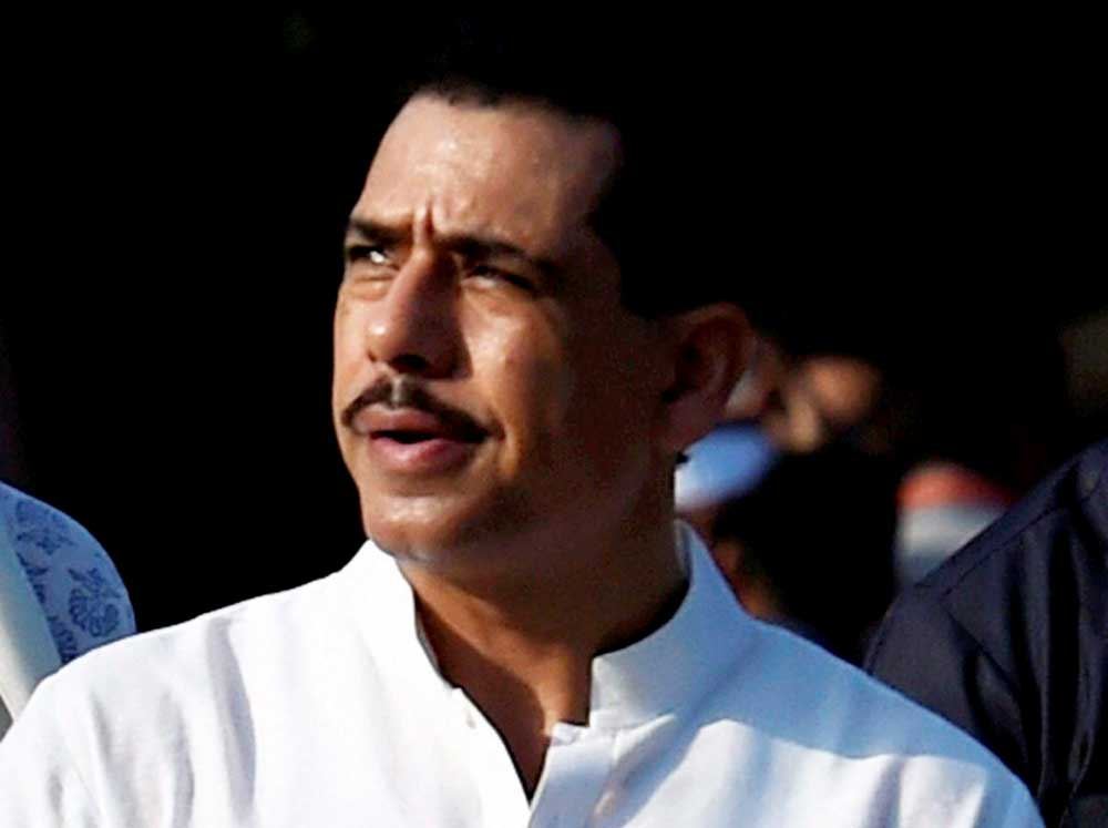 Robert Vadra, the brother-in-law of Congress president Rahul Gandhi, has moved a Delhi seeking anticipatory bail in case of money laundering being investigated by the Enforcement Directorate. PTI file photo