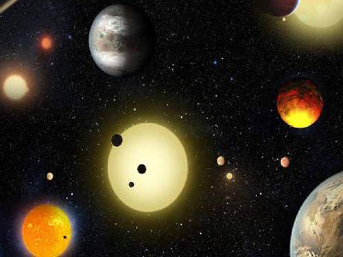 Unlike Earth's relation to the Sun, the planets in the Kelper-107 system are much closer to each other and their host star (their equivalent of our sun). All of the planets have an orbital period of days as opposed to years. (Image for representation)