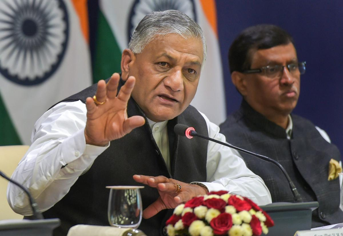 Minister of State for External Affairs VK Singh. (PTI)