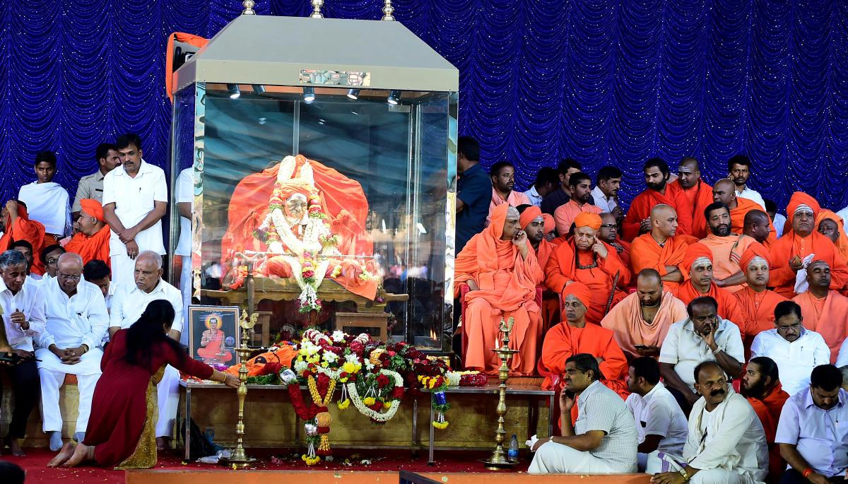 Siddaganga Mutt seer Shivakumara Swami, passed away on January 21. (DH Photo)
