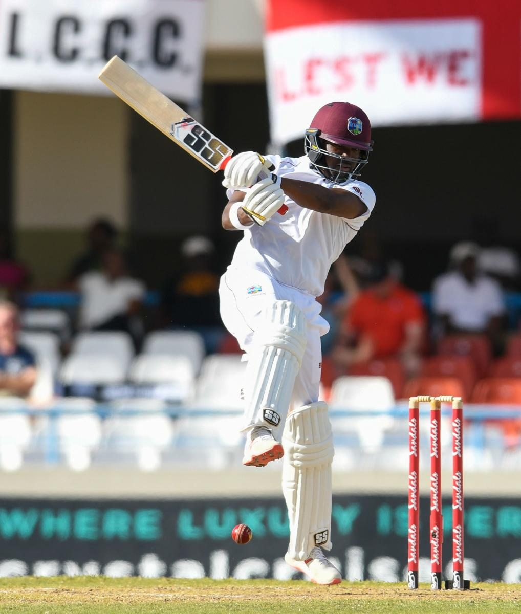 PATIENT KNOCK: West Indies Darren Bravo batted for four hours for his unbeaten 33, thwarting everything England threw at him with a dead bat to put his side in a commanding position. AFP