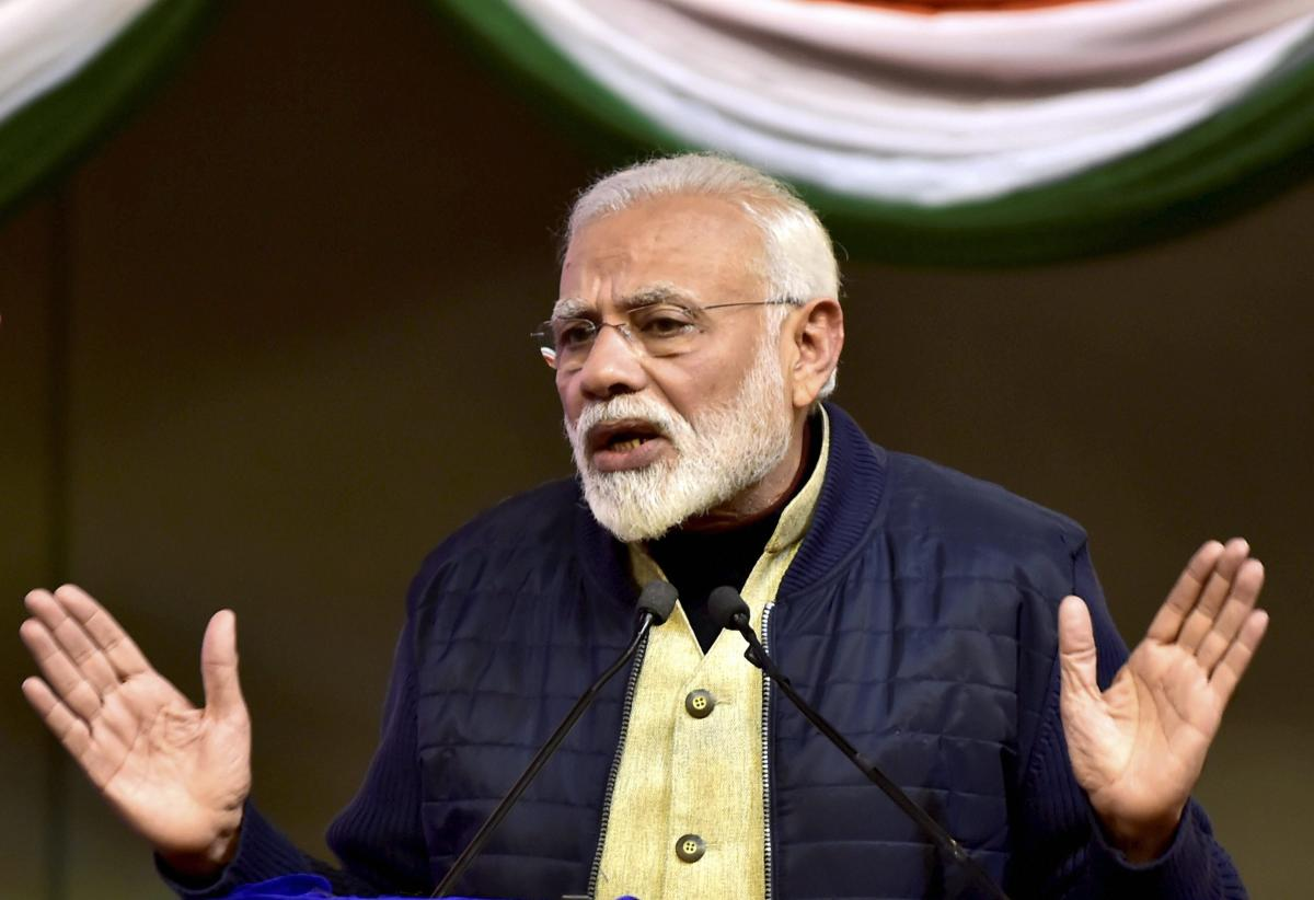Taking potshots at the attempts to cobble up a mahagathbandhan (grand alliance) against the BJP, Prime Minister Narendra Modi on Friday asked people to guard against the 'mahamilavat' (highly adulterated) regime if his party wasn't voted back. PTI file ph
